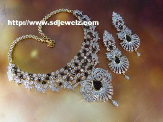 artificial diamond necklace set