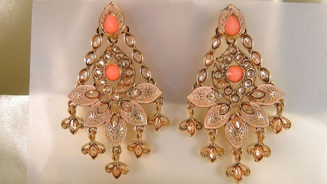 classic gold plated dangle earrings