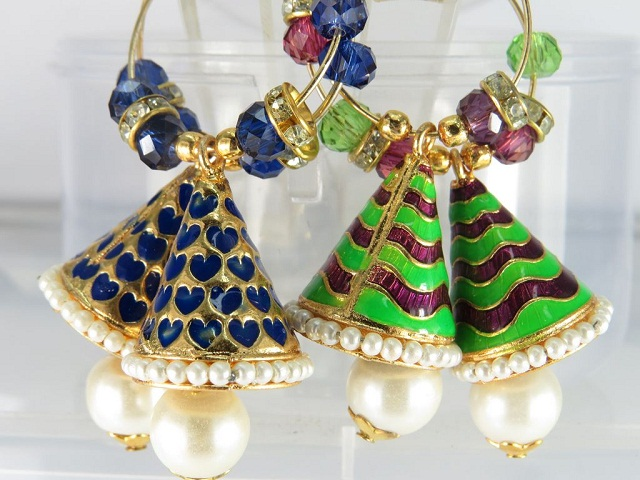 combo pair of jhumka style earring