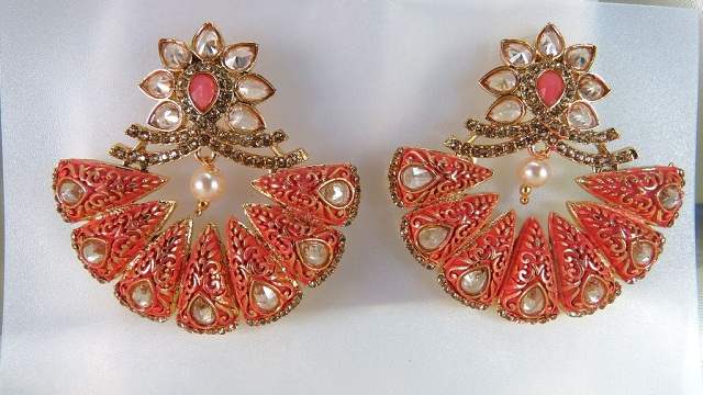 floral chandbali earrings