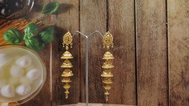 layered jhumka style earring