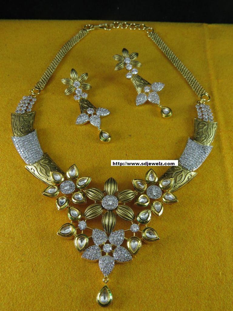 Indian jewelry kundan necklace sets