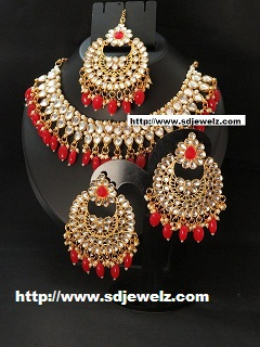 red moti jewellery