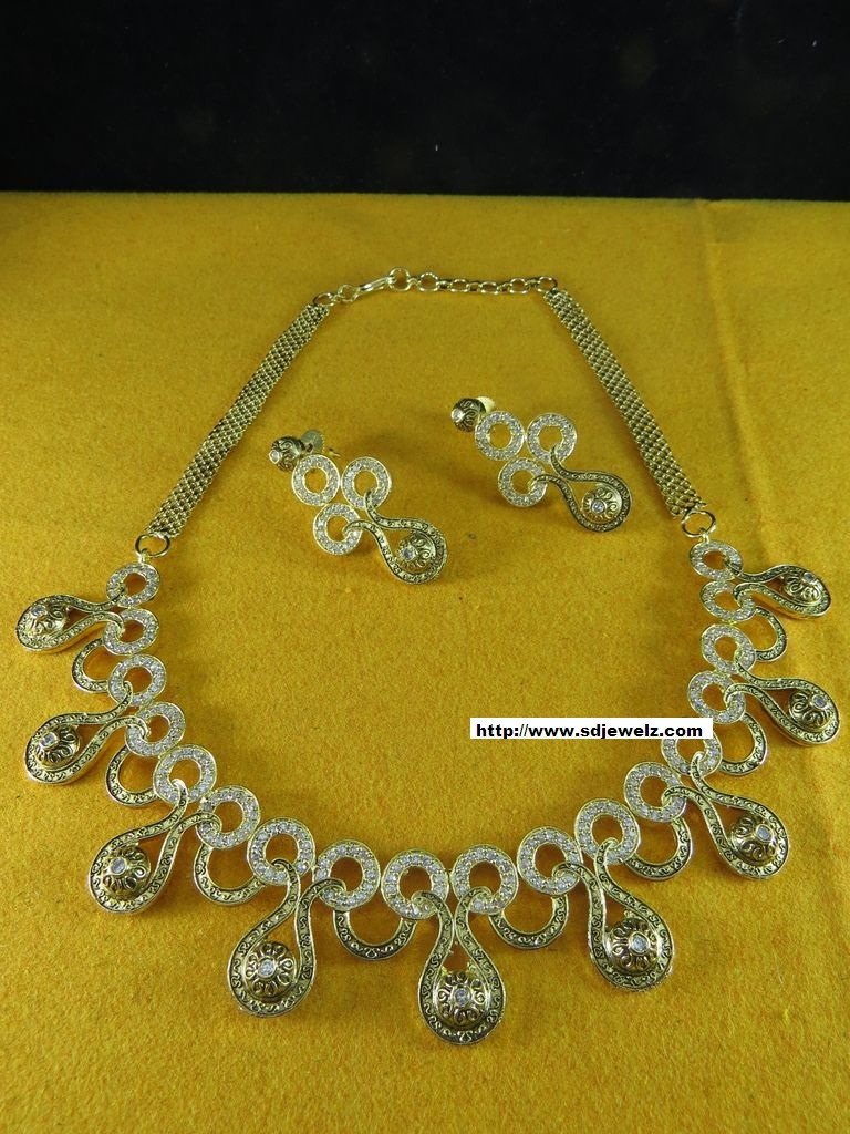 Indian jewelry stone studded necklace sets