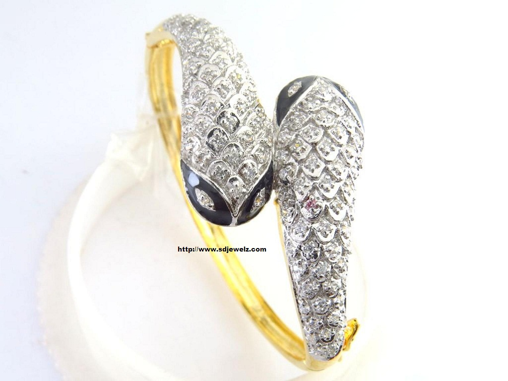 gold zircon bangle bracelet