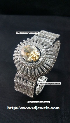 zircon bangle bracelet in yellow