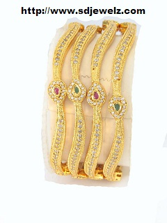 gold zircon bangles and bracelets
