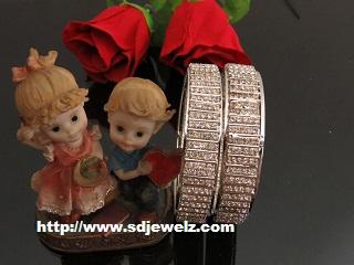 stone studded bangles set
