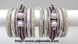 stone studded chura set